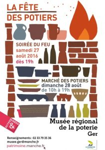 affiche Fête des potiers Ger 2016